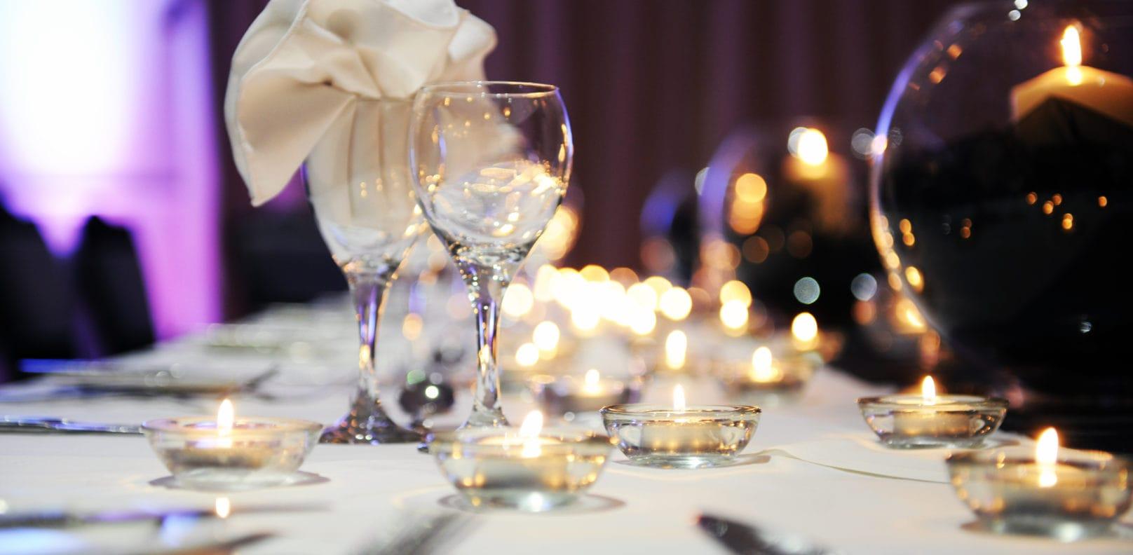 Gala Ball Table setting