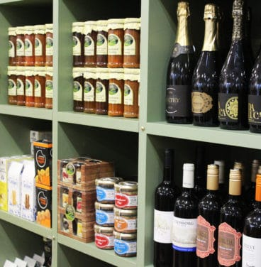 Groceries and wine in Pippin Gift Shop