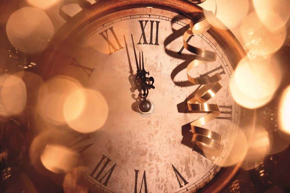 New years eve clock