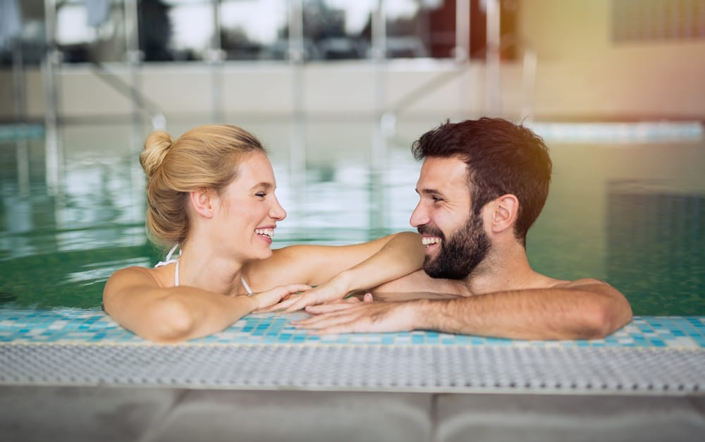 Spa Break for Two - Couple in pool