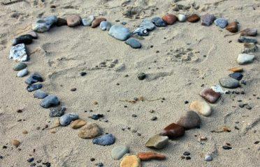 Pebble heart on the beach