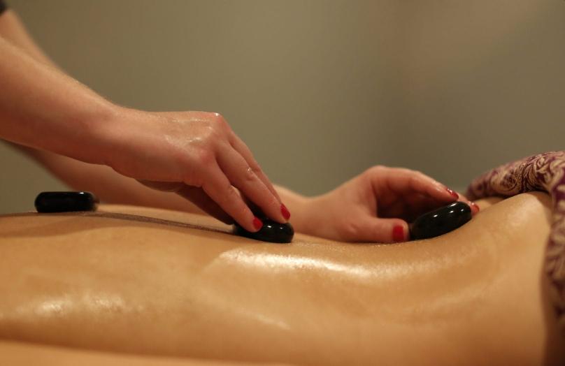 Hot stone massage at Peake Spa