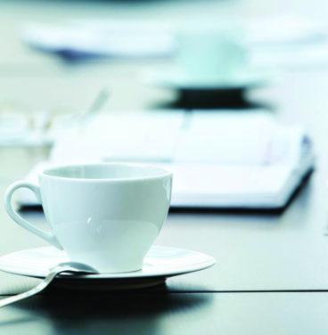 Coffee on meeting table