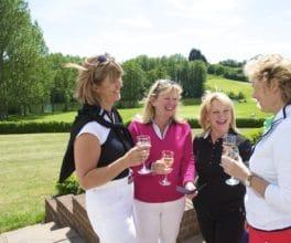 Lady Members Socialising Golf