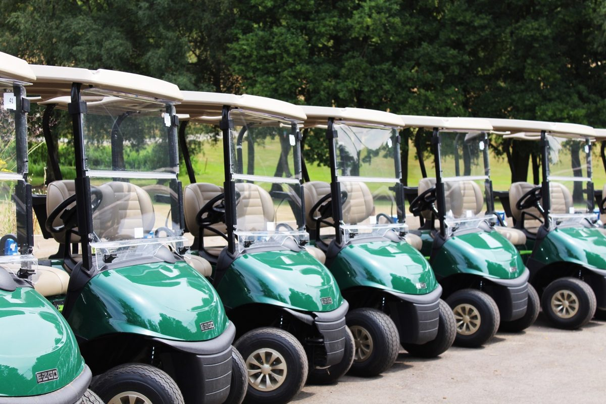 Golf buggies for hire at Stoke by Nayland