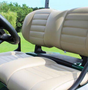 Golf buggy seat close up