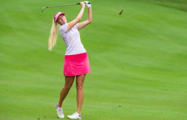 Emma Nilsson of Sweden during a practice round