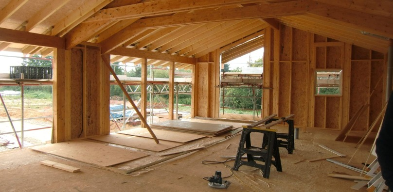 Building works for the Stoke by Nayland lodges