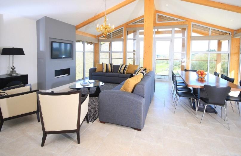 Luxury lodge living room