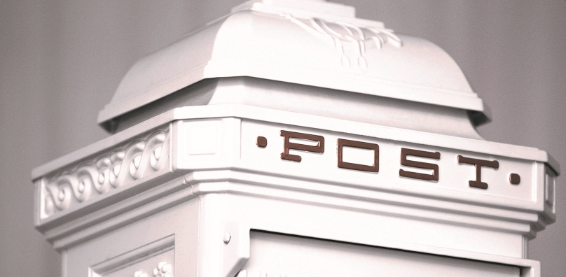 Wedding card letterbox close up - Stoke by Nayland