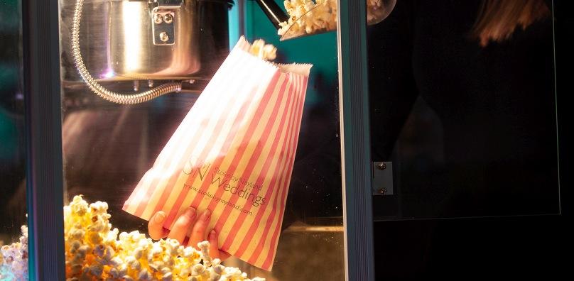 Wedding popcorn machine - Stoke by Nayland