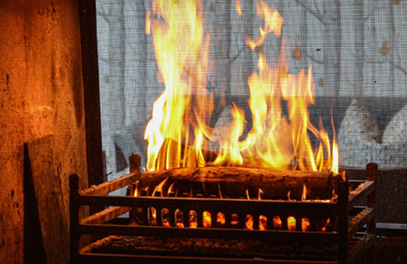 Lounge applewood fire